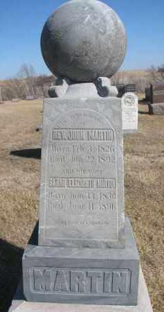 MARTIN, SARAH - Cedar County, Nebraska   SARAH MARTIN - Nebraska Gravestone Photos