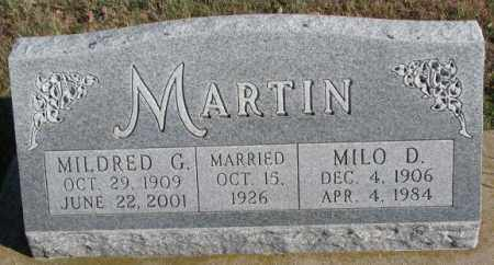 MARTIN, MILDRED G. - Cedar County, Nebraska | MILDRED G. MARTIN - Nebraska Gravestone Photos