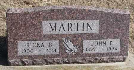 MARTIN, RICKA B. - Cedar County, Nebraska | RICKA B. MARTIN - Nebraska Gravestone Photos