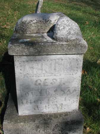 MARX, ANNIE M. - Cedar County, Nebraska   ANNIE M. MARX - Nebraska Gravestone Photos