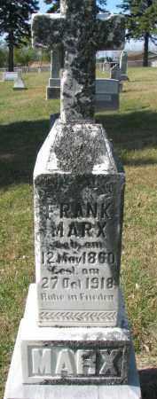 MARX, FRANK - Cedar County, Nebraska | FRANK MARX - Nebraska Gravestone Photos