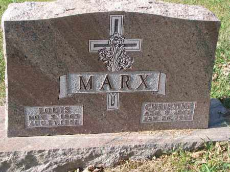 MARX, LOUIS - Cedar County, Nebraska | LOUIS MARX - Nebraska Gravestone Photos