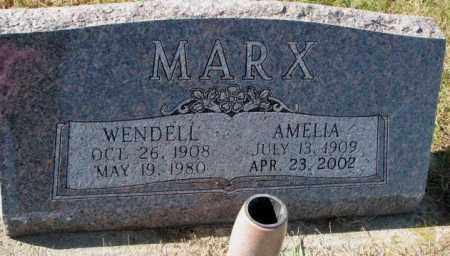 MARX, WENDELL - Cedar County, Nebraska | WENDELL MARX - Nebraska Gravestone Photos