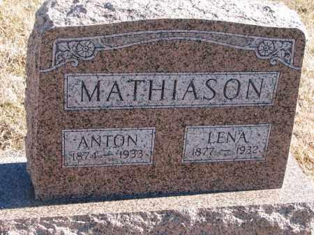 MATHIASON, LENA - Cedar County, Nebraska | LENA MATHIASON - Nebraska Gravestone Photos