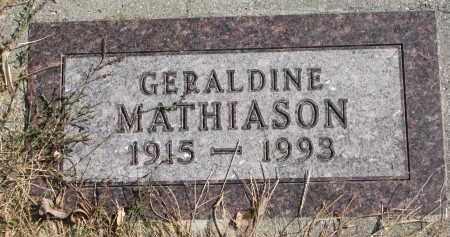 MATHIASON, GERALDINE - Cedar County, Nebraska | GERALDINE MATHIASON - Nebraska Gravestone Photos