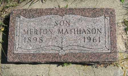 MATHIASON, MERTON - Cedar County, Nebraska   MERTON MATHIASON - Nebraska Gravestone Photos