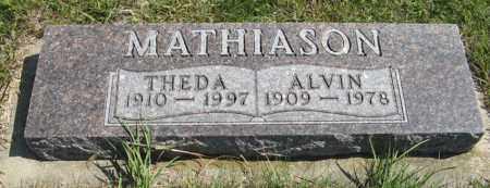 MATHIASON, THEDA - Cedar County, Nebraska | THEDA MATHIASON - Nebraska Gravestone Photos