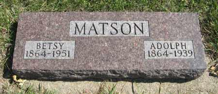 MATSON, BETSY - Cedar County, Nebraska | BETSY MATSON - Nebraska Gravestone Photos
