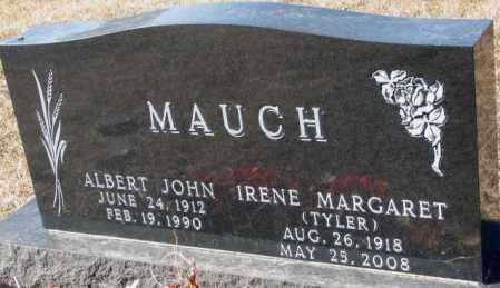 TYLER MAUCH, IRENE MARGARET - Cedar County, Nebraska | IRENE MARGARET TYLER MAUCH - Nebraska Gravestone Photos