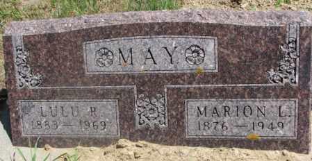MAY, MARION L. - Cedar County, Nebraska | MARION L. MAY - Nebraska Gravestone Photos