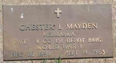 MAYDEN, CHESTER L. (WW I) - Cedar County, Nebraska   CHESTER L. (WW I) MAYDEN - Nebraska Gravestone Photos