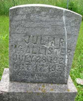 MCALLISTER, JULIA R. - Cedar County, Nebraska   JULIA R. MCALLISTER - Nebraska Gravestone Photos