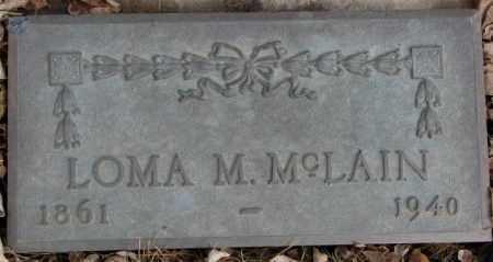 MCLAIN, LOMA M. - Cedar County, Nebraska   LOMA M. MCLAIN - Nebraska Gravestone Photos