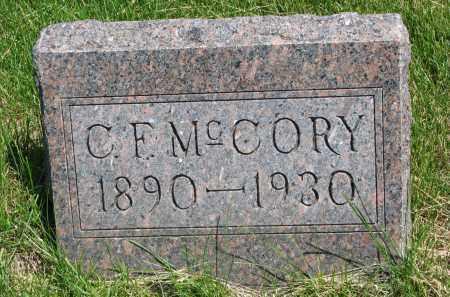 MCCORY, C.F. - Cedar County, Nebraska | C.F. MCCORY - Nebraska Gravestone Photos