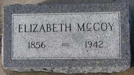 MCCOY, ELIZABETH - Cedar County, Nebraska   ELIZABETH MCCOY - Nebraska Gravestone Photos
