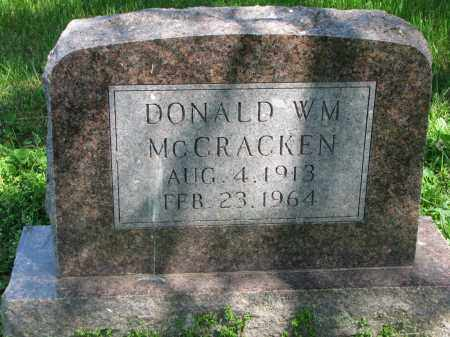 MCCRACKEN, DONALD WM. - Cedar County, Nebraska   DONALD WM. MCCRACKEN - Nebraska Gravestone Photos