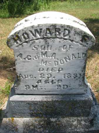 MCDONALD, HOWARD F. - Cedar County, Nebraska | HOWARD F. MCDONALD - Nebraska Gravestone Photos