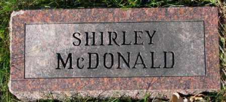 MCDONALD, SHIRLEY - Cedar County, Nebraska | SHIRLEY MCDONALD - Nebraska Gravestone Photos