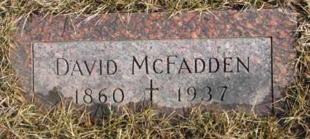 MCFADDEN, DAVID - Cedar County, Nebraska | DAVID MCFADDEN - Nebraska Gravestone Photos