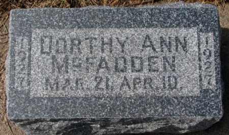 MCFADDEN, DORTHY ANN - Cedar County, Nebraska | DORTHY ANN MCFADDEN - Nebraska Gravestone Photos