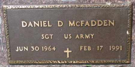 MCFADDEN, DANIEL D. (MILITARY) - Cedar County, Nebraska | DANIEL D. (MILITARY) MCFADDEN - Nebraska Gravestone Photos