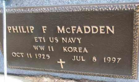 MCFADDEN, PHILIP F. (MILITARY) - Cedar County, Nebraska | PHILIP F. (MILITARY) MCFADDEN - Nebraska Gravestone Photos