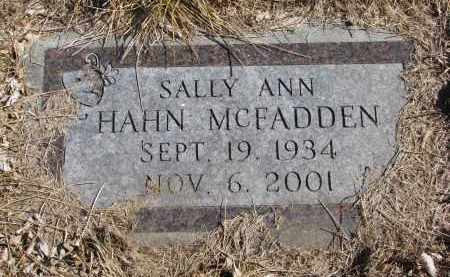 MCFADDEN, SALLY ANN - Cedar County, Nebraska | SALLY ANN MCFADDEN - Nebraska Gravestone Photos