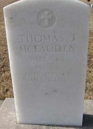 MCFADDEN, THOMAS J. - Cedar County, Nebraska   THOMAS J. MCFADDEN - Nebraska Gravestone Photos