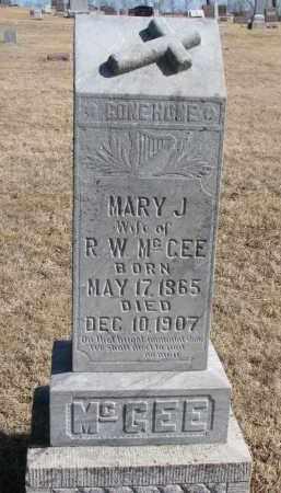 MCGEE, MARY J. - Cedar County, Nebraska | MARY J. MCGEE - Nebraska Gravestone Photos