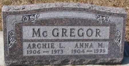 MCGREGOR, ANNA M. - Cedar County, Nebraska | ANNA M. MCGREGOR - Nebraska Gravestone Photos