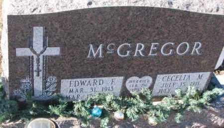 MCGREGOR, EDWARD F. - Cedar County, Nebraska | EDWARD F. MCGREGOR - Nebraska Gravestone Photos
