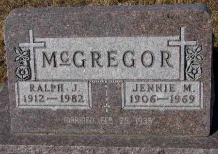 MCGREGOR, JENNIE M. - Cedar County, Nebraska | JENNIE M. MCGREGOR - Nebraska Gravestone Photos