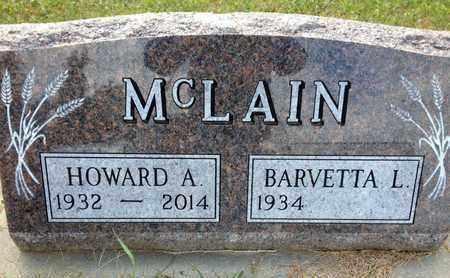 MCLAIN, HOWARD A. - Cedar County, Nebraska   HOWARD A. MCLAIN - Nebraska Gravestone Photos