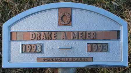 MEIER, DRAKE A. - Cedar County, Nebraska | DRAKE A. MEIER - Nebraska Gravestone Photos