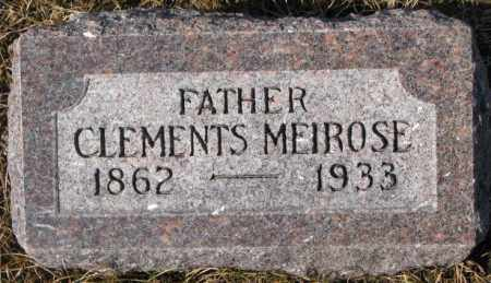 MEIROSE, CLEMENTS - Cedar County, Nebraska   CLEMENTS MEIROSE - Nebraska Gravestone Photos