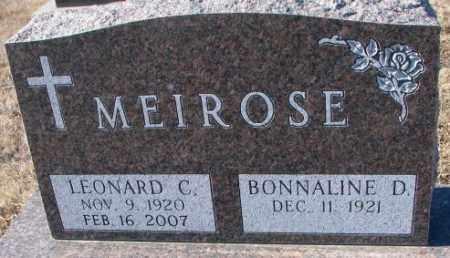 MEIROSE, LEONARD C. - Cedar County, Nebraska   LEONARD C. MEIROSE - Nebraska Gravestone Photos