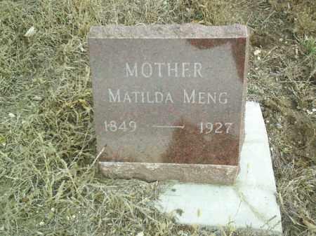 MENG, MATILDA - Cedar County, Nebraska | MATILDA MENG - Nebraska Gravestone Photos