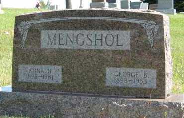 MENGSHOL, ANNA H. - Cedar County, Nebraska | ANNA H. MENGSHOL - Nebraska Gravestone Photos