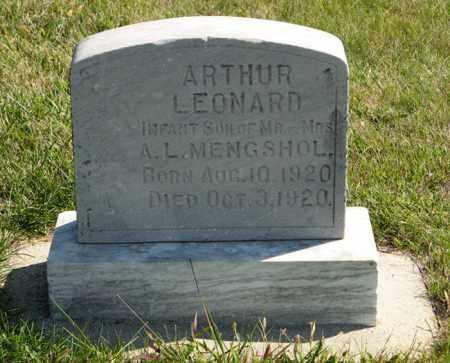 MENGSHOL, ARTHUR LEONARD - Cedar County, Nebraska | ARTHUR LEONARD MENGSHOL - Nebraska Gravestone Photos