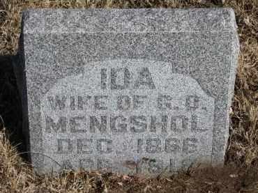 MENGSHOL, IDA - Cedar County, Nebraska   IDA MENGSHOL - Nebraska Gravestone Photos