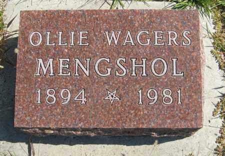 WAGERS MENGSHOL, OLLIE - Cedar County, Nebraska | OLLIE WAGERS MENGSHOL - Nebraska Gravestone Photos