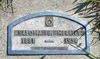MERRITT, SALOMA B. - Cedar County, Nebraska | SALOMA B. MERRITT - Nebraska Gravestone Photos