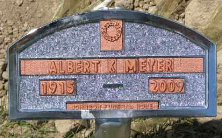 MEYER, ALBERT K. - Cedar County, Nebraska   ALBERT K. MEYER - Nebraska Gravestone Photos
