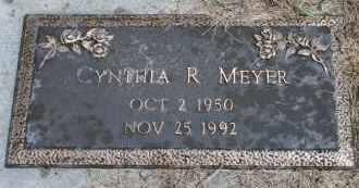 MEYER, CYNTHIA R - Cedar County, Nebraska | CYNTHIA R MEYER - Nebraska Gravestone Photos
