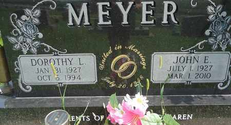 MEYER, JOHN E. - Cedar County, Nebraska | JOHN E. MEYER - Nebraska Gravestone Photos