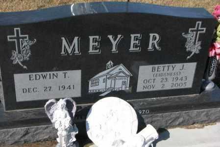 MEYER, EDWIN T. - Cedar County, Nebraska | EDWIN T. MEYER - Nebraska Gravestone Photos