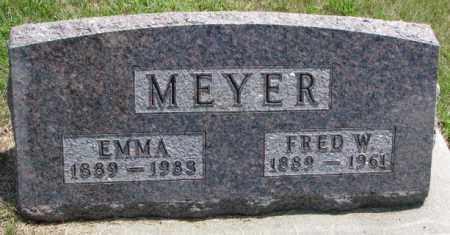MEYER, FRED W. - Cedar County, Nebraska | FRED W. MEYER - Nebraska Gravestone Photos