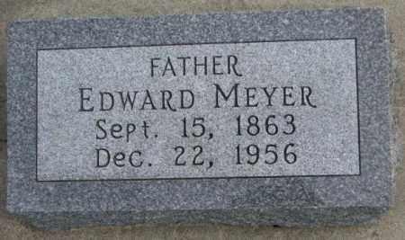 MEYER, EDWARD - Cedar County, Nebraska | EDWARD MEYER - Nebraska Gravestone Photos