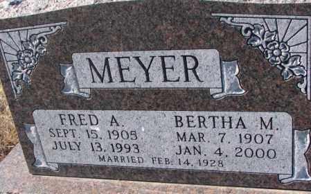 MEYER, FRED A. - Cedar County, Nebraska | FRED A. MEYER - Nebraska Gravestone Photos