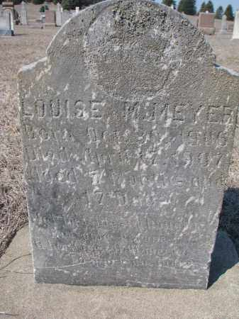 MEYER, LOUISE M. - Cedar County, Nebraska | LOUISE M. MEYER - Nebraska Gravestone Photos